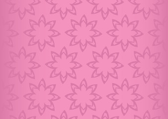 Pink Floral Repeat Pattern Seamless Vector Background Design