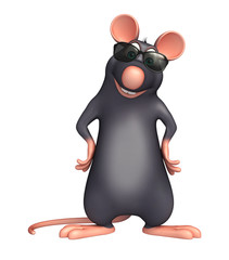 fun  Rat cartoon character with sunglass