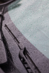 Car wipers on windshield