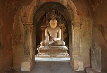 Buddha Image of Dhammayangyi Temple in Bagan, Myanmar.