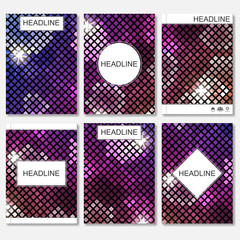 Modern vector templates for brochure, flyer, cover magazine or report in A4 size. Abstract geometric background with triangles. Vector illustration