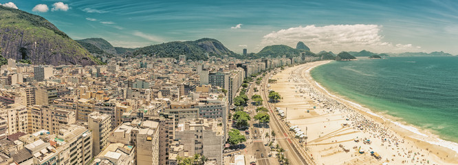 Panorama of Copacabana Beach and Sugar Loaf Mountain