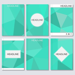 Science vector background. Modern vector templates for brochure, flyer, cover magazine or report in A4 size. Abstract geometric background with triangles. Vector illustration