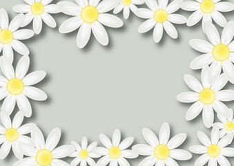 Floral wish background with flowers and place for text