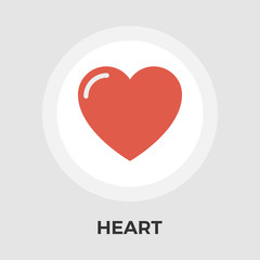 Heart vector flat icon