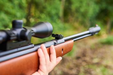 Air gun with optic.