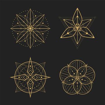 Gold geometry set design