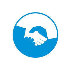 Vector handshake symbol. Partnership concept. Business icon