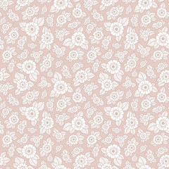 Seamless vector floral pattern with colorful fantasy plants and