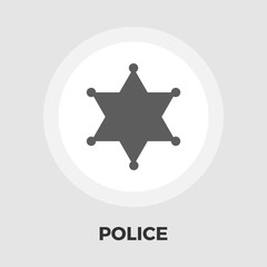 Police icon flat