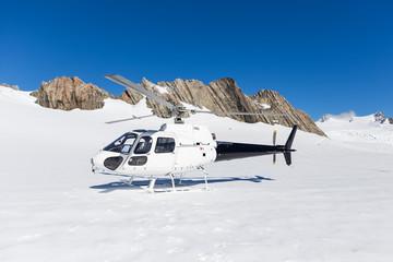 helicopter on Franz Josep Glacier