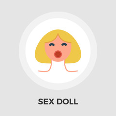 Sex doll flat icon