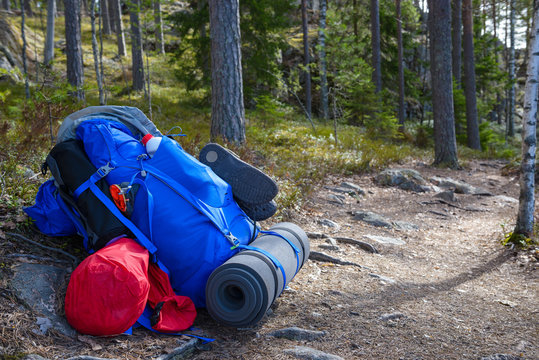 Backpack on a Repovesi national park trail