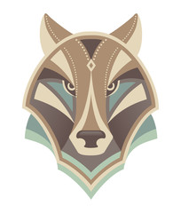 Wolf head abstract vector design