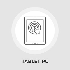 Tablet PC vector flat icon