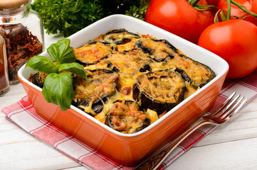 Moussaka - greek casserole with eggplants.