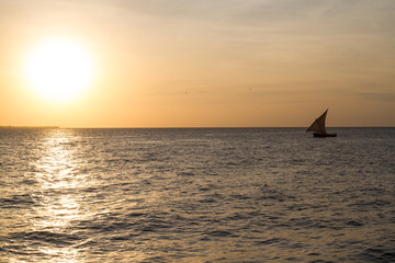 Dhow at sunset