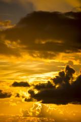 bright orange sunset sky in ireland