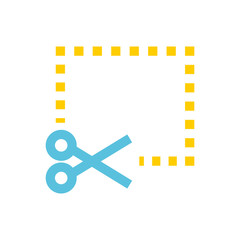 Coupon, scissor line icon