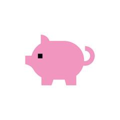 Piggy bank, money back line icon.