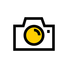 Photo presentation line icon.
