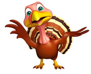 hold Turkey cartoon character