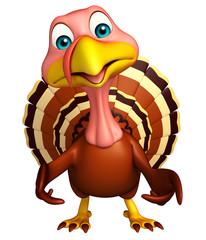 funny Turkey  cartoon character