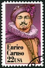 USA - 1987: Enrico Caruso (1873-1921), Italian operatic tenor