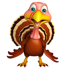 funny Turkey  cartoon character
