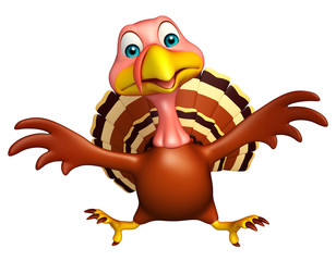 sitting Turkey  cartoon character