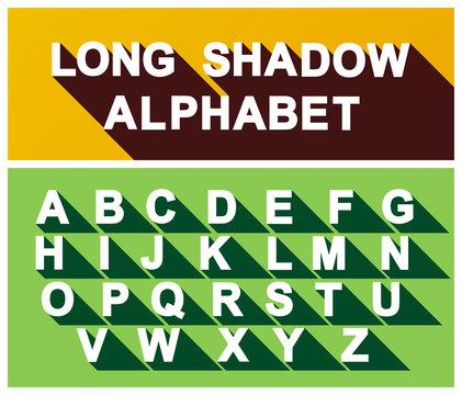Long Shadow Alphabet. Vector