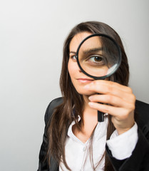 young woman looking lens