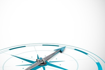 Composite image of a compass