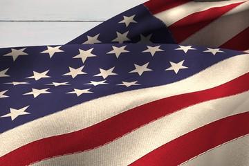 Composite image of USA flag