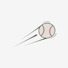 Vector icon of baseball ball