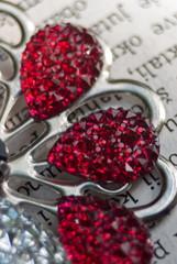Beautiful crystal glass brooch