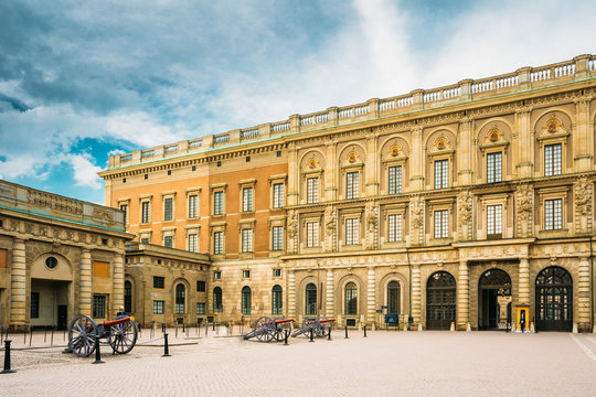 Royal Palace In Gamla Stan, In Stockholm, Sweden