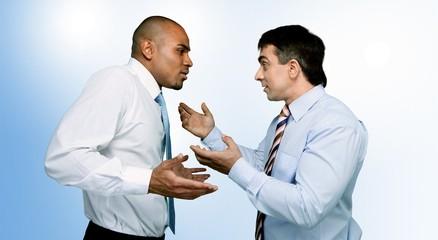 Arguing.