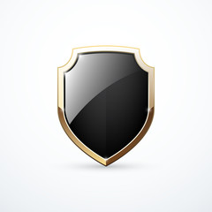 Search photos shield icon vector gold and black shield maxwellsz
