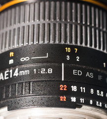 photocamera wide angle lens