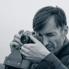 man photographs