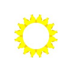 Yellow Sun or Star Decorative Logo