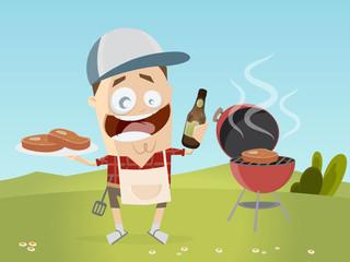 grillen fleisch bier clipart cartoon