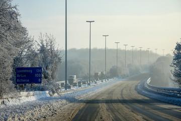 Travel Chaos Belgium Motorway
