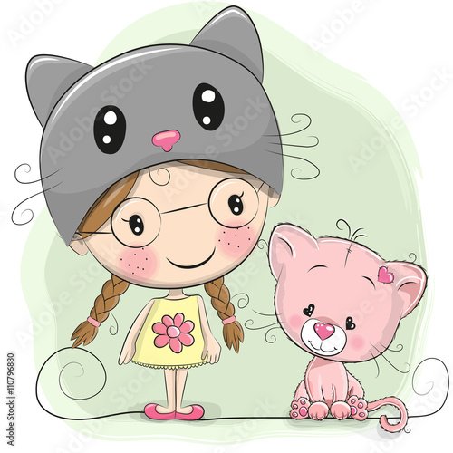 Quot Cute Cartoon Girl Quot Stock Image And Royalty Free Vector
