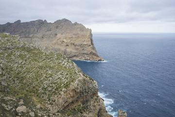 views of Cape formentor in the tourist region of Mallorca, locat