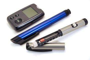 Insulin pen and glucometer