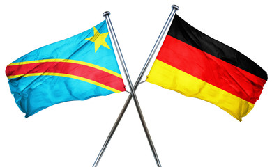 Democratic republic of the congo flag  combined with germany fla