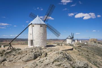 Autocollant pour porte Moulins cereal mills mythical Castile in Spain, Don Quixote, Castilian l