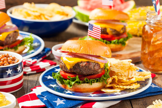 Homemade Memorial Day Hamburger Picnic